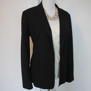 CALVIN KLEIN Size 14 Black Suit Jacket Blazer